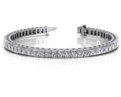 14KT White Gold 6.18ct G-H SI1/SI2 Fashion Bracelets