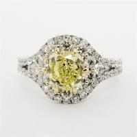 14KT White Gold 2.72ct Y I1 Halo Engagement Ring